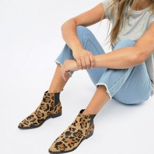 ASOS Animal Print Ankle Boots